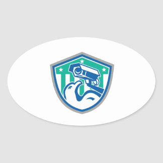 Eagle Security CCTV Camera Retro Shield Stickers