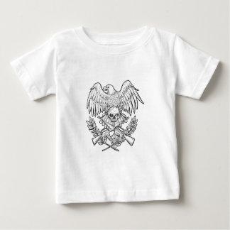 Eagle Skull Assault Rifle Drawing Baby T-Shirt