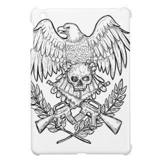 Eagle Skull Assault Rifle Drawing Cover For The iPad Mini