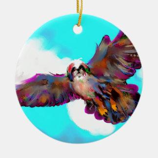 eagle soar pic _equalized.jpg round ceramic ornament