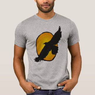 eagle soaring into sun shirt design