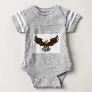 Eagle Soccer Football Mascot Baby Bodysuit