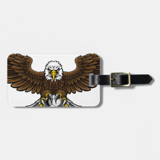 Eagle Soccer Football Mascot Luggage Tag