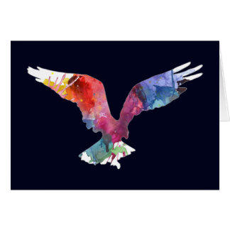 Eagle Spirit Animal Bird. Totem. Watercolor Art Card