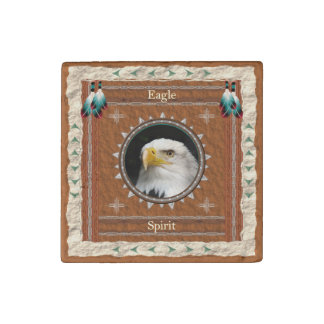 Eagle -Spirit- Primed Marble Magnet