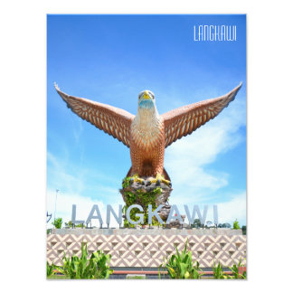 Eagle Square Statue on the Waterfront in Langkawi Photo Print