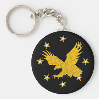 Eagle-stars Basic Round Button Keychain