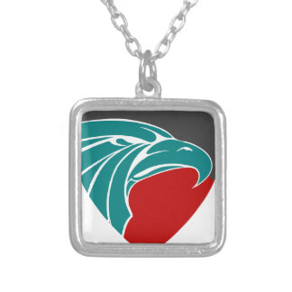 Eagle Strength And Pride Silver Plated Necklace