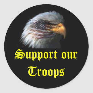 eagle, Support our Troops Classic Round Sticker