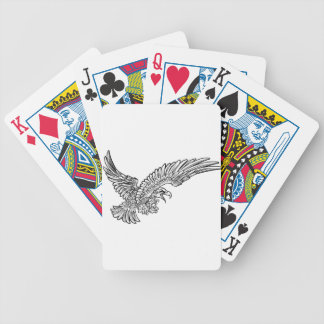 Eagle Swooping from the Side Poker Deck