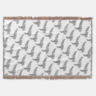 Eagle Swooping from the Side Throw Blanket
