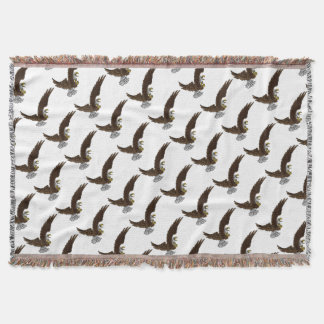 Eagle Swooping Throw Blanket