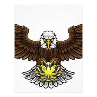 Eagle Tennis Sports Mascot Letterhead