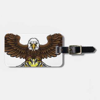 Eagle Tennis Sports Mascot Luggage Tag
