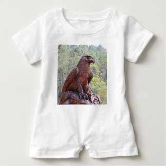 Eagle totem carving, Portugal 2 Baby Romper