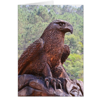 Eagle totem carving, Portugal 2 Card