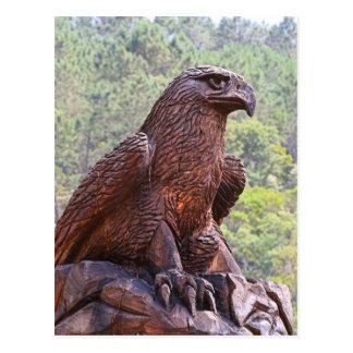 Eagle totem carving, Portugal 2 Postcard