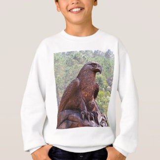 Eagle totem carving, Portugal 2 Sweatshirt