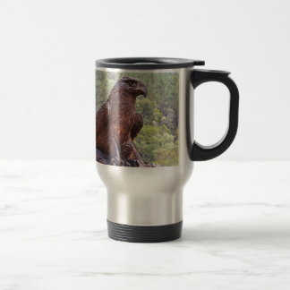 Eagle totem carving, Portugal 2 Travel Mug
