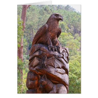 Eagle totem carving, Portugal Card