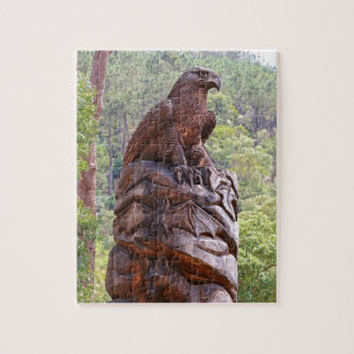 Eagle totem carving, Portugal Jigsaw Puzzle
