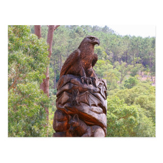 Eagle totem carving, Portugal Postcard