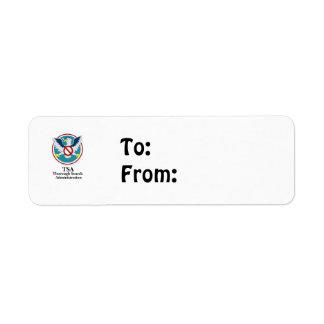 Eagle TSA Funny Cartoon (Touch My Junk) Return Address Label