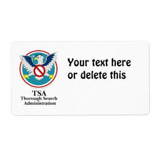 Eagle TSA Funny Cartoon (Touch My Junk) Shipping Label