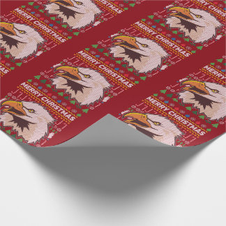 Eagle Ugly Christmas Sweater Wildlife Series Wrapping Paper