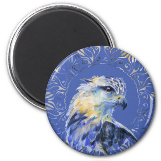 Eagle watercolor illustration 2 inch round magnet