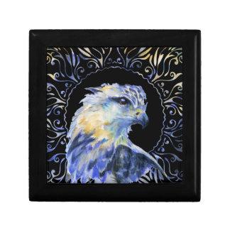 Eagle watercolor illustration gift box