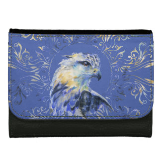 Eagle watercolor illustration wallet for women