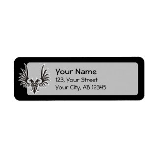 Eagle with two heads return address label