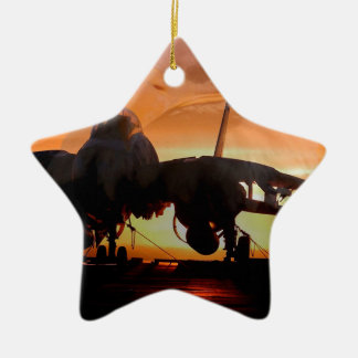 eaglefighterjet22 ceramic star ornament