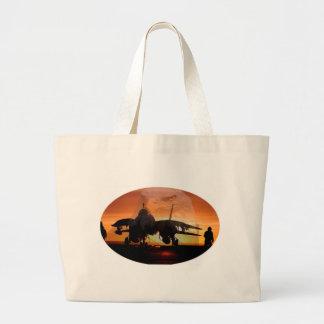 eaglefighterjet22 large tote bag