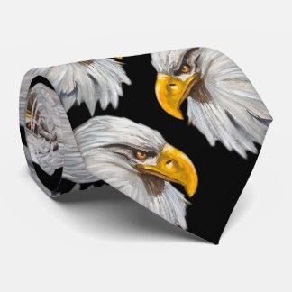 eagles head design dark tie