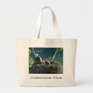 Eagles' Nest; Customizable Large Tote Bag