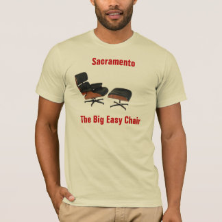 eames-lounge-chair, Sacramento, The Big Easy Chair T-Shirt
