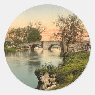 Eamont Bridge, Lake District, Cumbria, England Round Sticker