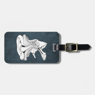 EAR ANATOMY VINTAGE LUGGAGE TAG
