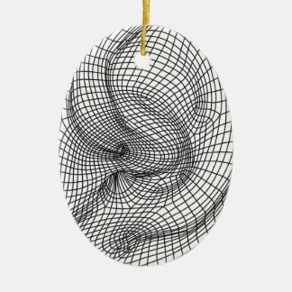 ear ceramic ornament