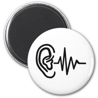 Ear frequency 2 inch round magnet