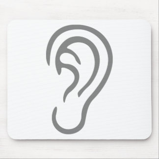 Ear Listening Mouse Pad