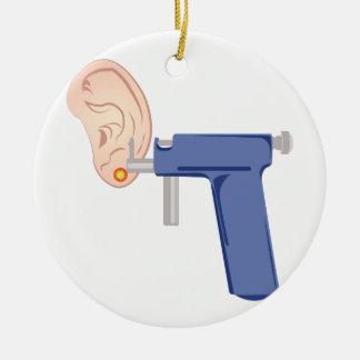 Ear Piercing Ceramic Ornament