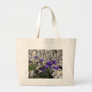 Earleaf bellflower (Campanula cochleariifolia) Large Tote Bag
