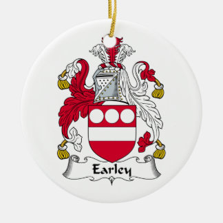 Earley Family Crest Ceramic Ornament