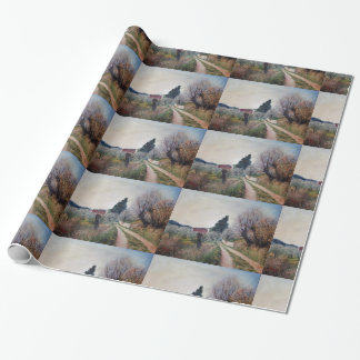 EARLIEST SPRING IN VERNALESE / Tuscany Landscape Wrapping Paper