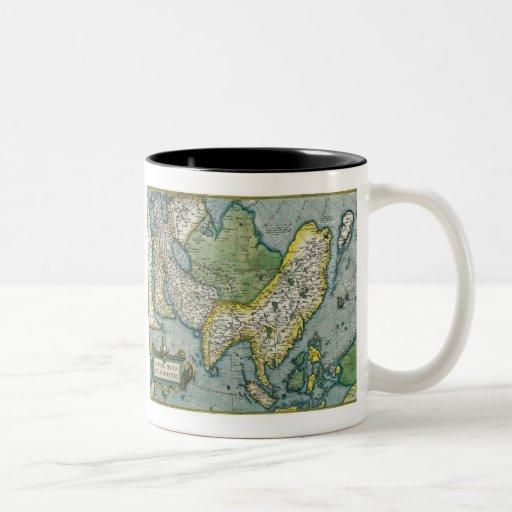 Early 16th Century Map of Asia Mug