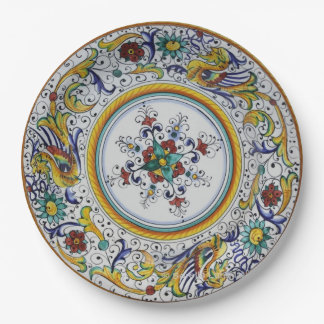 Early 16th Century Paper Plates from Umbria 9 Inch Paper Plate
