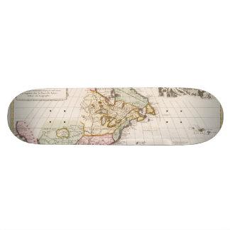 Early (1708) American Map ~ Vintage, L'Amerique Skate Board